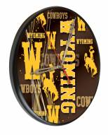 Wyoming Cowboys Digitally Printed Wood Clock