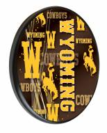 Wyoming Cowboys Digitally Printed Wood Sign