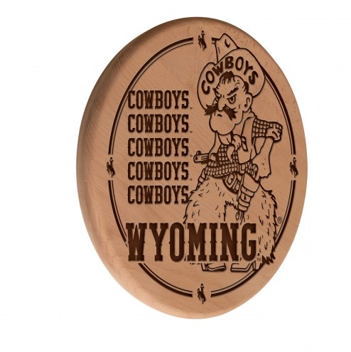 Wyoming Cowboys Laser Engraved Wood Sign