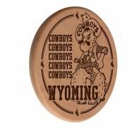 Wyoming Cowboys Laser Engraved Wood Sign