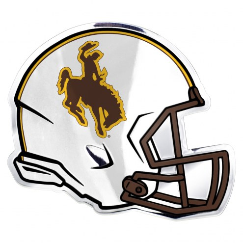 Wyoming Cowboys Helmet Car Emblem