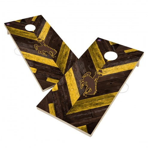 Wyoming Cowboys Herringbone Cornhole Game Set
