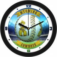 Wyoming Cowboys Home Run Wall Clock