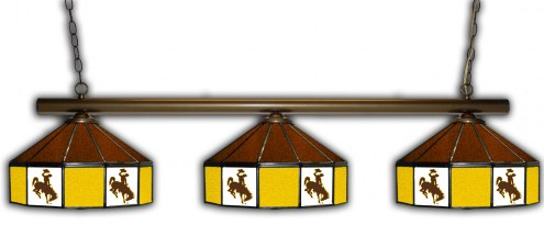 Wyoming Cowboys 3 Shade Pool Table Light