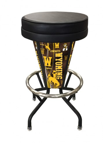 Wyoming Cowboys Indoor/Outdoor Lighted Bar Stool