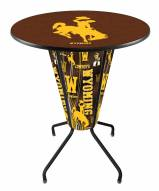 Wyoming Cowboys Indoor Lighted Pub Table