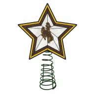 Wyoming Cowboys Light Up Art Glass Tree Topper