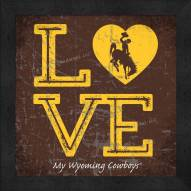 Wyoming Cowboys Love My Team Color Wall Decor