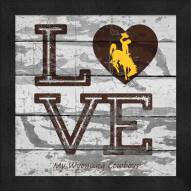 Wyoming Cowboys Love My Team Square Wall Decor