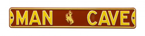 Wyoming Cowboys Man Cave Street Sign