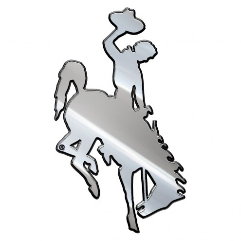 Wyoming Cowboys Metal Car Emblem