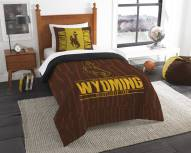 Wyoming Cowboys Modern Take Twin Comforter Set