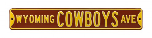 Wyoming Cowboys NCAA Embossed Street Sign