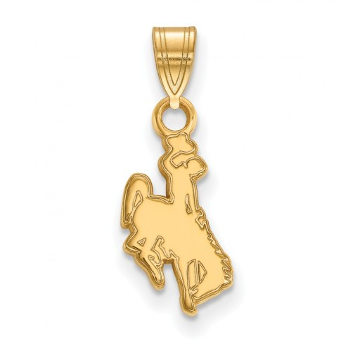 Wyoming Cowboys NCAA Sterling Silver Gold Plated Small Pendant