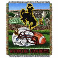Wyoming Cowboys NCAA Woven Tapestry Throw Blanket