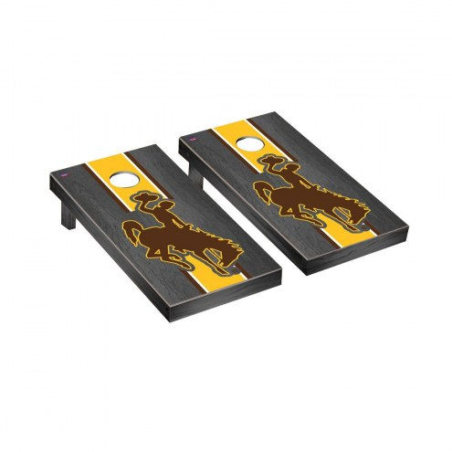 Wyoming Cowboys Onyx Stained Cornhole Game Set