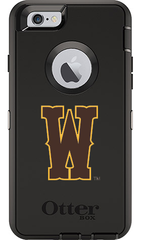Wyoming Cowboys OtterBox iPhone 6/6s Defender Black Case