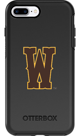 meet a56d6 66d50 Wyoming Cowboys OtterBox iPhone 8 Plus/7 Plus Symmetry Black Case