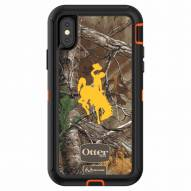 Wyoming Cowboys OtterBox iPhone X Defender Realtree Camo Case