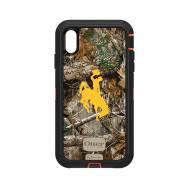 Wyoming Cowboys OtterBox iPhone XS Max Defender Realtree Camo Case