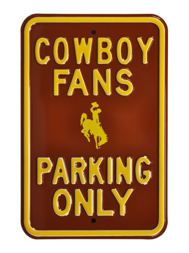 Wyoming Cowboys Parking Sign