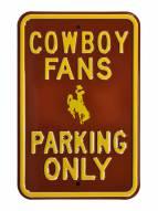 Wyoming Cowboys Parking Sign