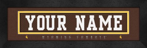 Wyoming Cowboys Personalized Stitched Jersey Print