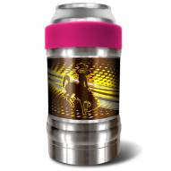 Wyoming Cowboys Pink 12 oz. Locker Vacuum Insulated Can Holder