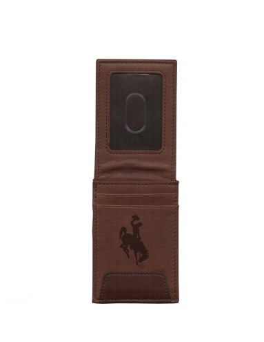 Wyoming Cowboys Premium Leather Front Pocket Wallet