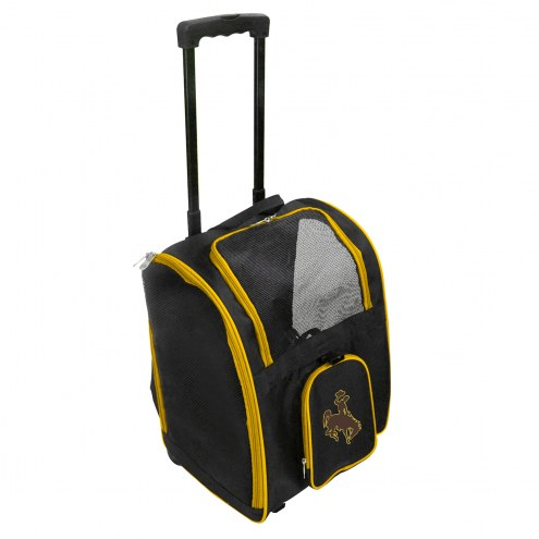 Wyoming Cowboys Premium Pet Carrier with Wheels