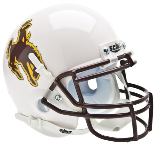 Wyoming Cowboys Schutt Mini Football Helmet