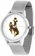 Wyoming Cowboys Silver Mesh Statement Watch