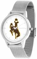Wyoming Cowboys Silver Mesh Statement Watch