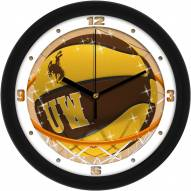 Wyoming Cowboys Slam Dunk Wall Clock