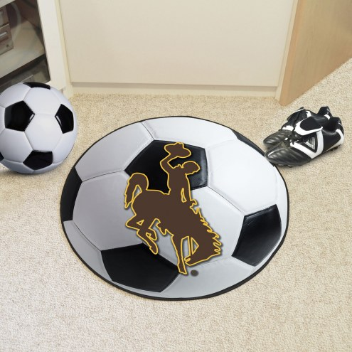 Wyoming Cowboys Soccer Ball Mat