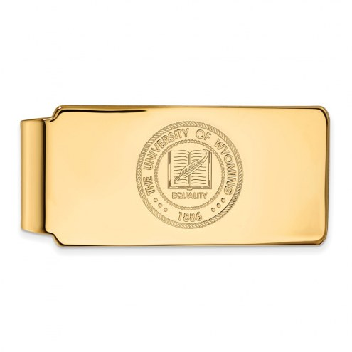 Wyoming Cowboys Sterling Silver Gold Plated Crest Money Clip