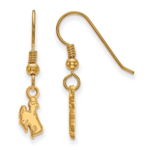 Wyoming Cowboys Sterling Silver Gold Plated Extra Small Dangle Earrings