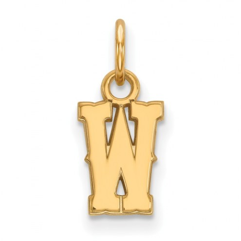 Wyoming Cowboys Sterling Silver Gold Plated Extra Small Pendant