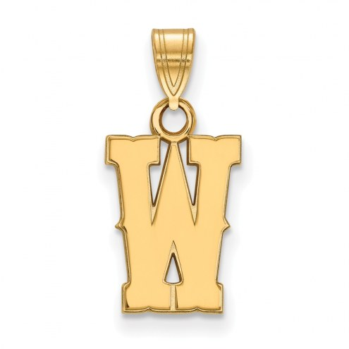 Wyoming Cowboys Sterling Silver Gold Plated Small Pendant