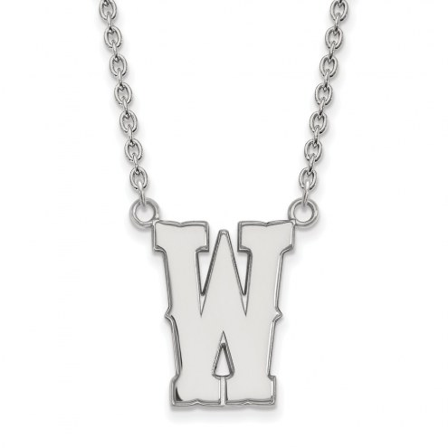 Wyoming Cowboys Sterling Silver Large Pendant Necklace
