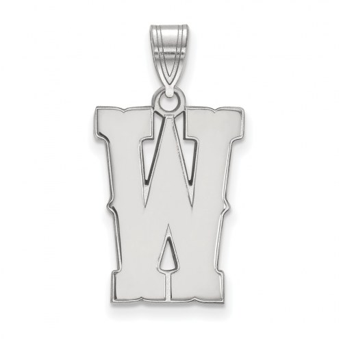 Wyoming Cowboys Sterling Silver Large Pendant