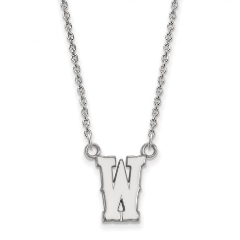Wyoming Cowboys Sterling Silver Small Pendant Necklace