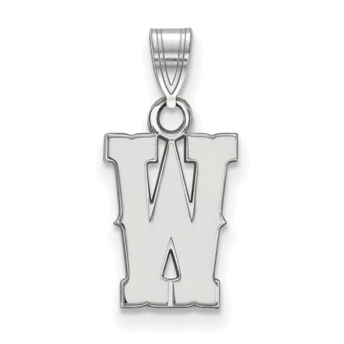Wyoming Cowboys Sterling Silver Small Pendant
