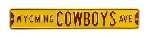 Wyoming Cowboys Street Sign