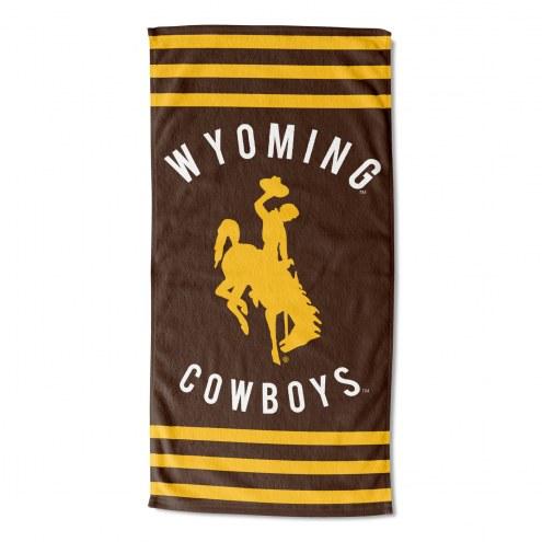 Wyoming Cowboys Stripes Beach Towel
