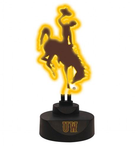 Wyoming Cowboys Team Logo Neon Light
