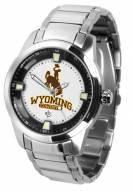Wyoming Cowboys Titan Steel Men's Watch