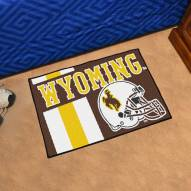 Wyoming Cowboys Uniform Inspired Starter Rug