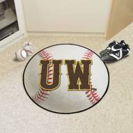 "Wyoming Cowboys ""UW"" Baseball Rug"