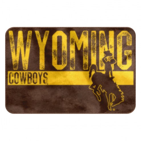 Wyoming Cowboys Worn Out Bath Mat